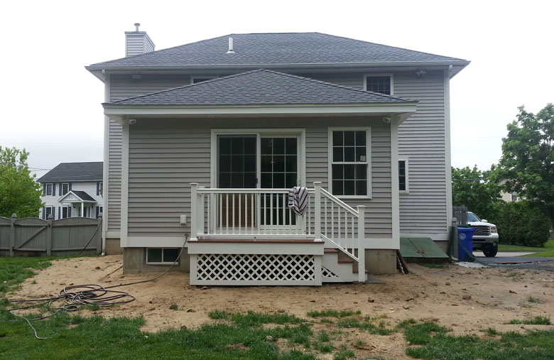 New Two Car Garage Addition With Breezeway And Shop In